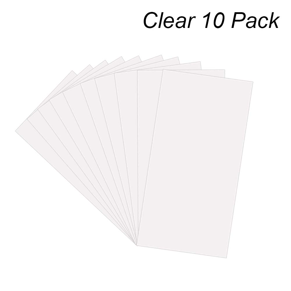 14 Pack 6 Mil CLEAR Mylar Stencil Sheets, 12'' x 24'' Blank Stencils, Reusable Template Material, Make Your Own Stencil Compatible for Cricut Vinyl Cutting Machine