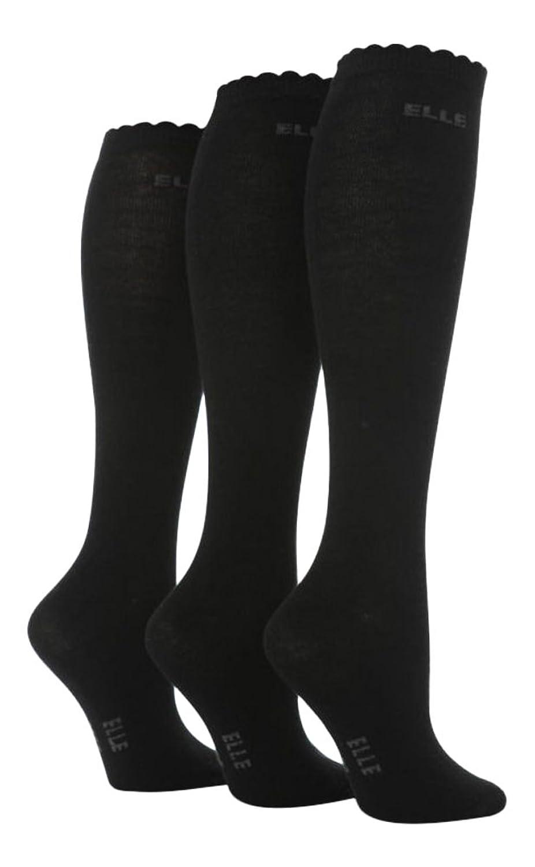 3 Pairs Girls Over The Knee Socks Black