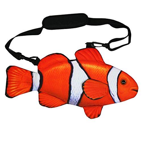 Pealra Clown Fish Bag, Orange/White, One Size