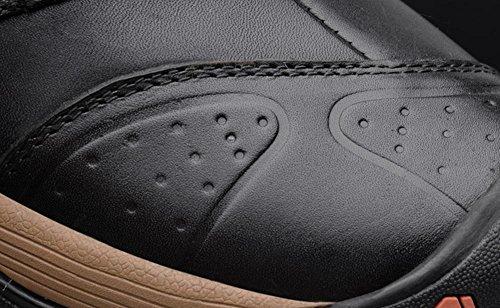 Hombre A Zapatos Goma Invierno Marrón Brown Negro Aire Khaki Cordones De 45 Swnx Al Libre Cuero Genuino Casual Con 42 40 Size39 qECax0dpw