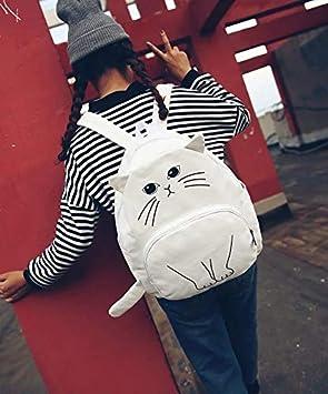 Basilion Cartoon Backpack Cute Cat Casual Travel Student Bag