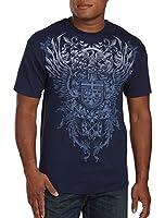 Down Feather Heraldic Big & Tall Short Sleeve Screen T-Shirt
