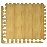 Greatmats Wood Grain Reversible Light Wood/Tan Foam Floor Tiles 24 x 24 x 1/2 inch, Case of 25