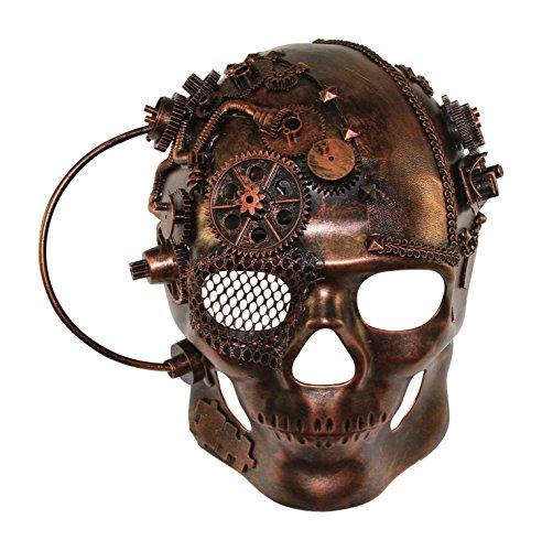 Terminator Costume Mask (KAYSO INC The Terminator SteampunkFull Face Skull Masquerade Mask (Bronze))
