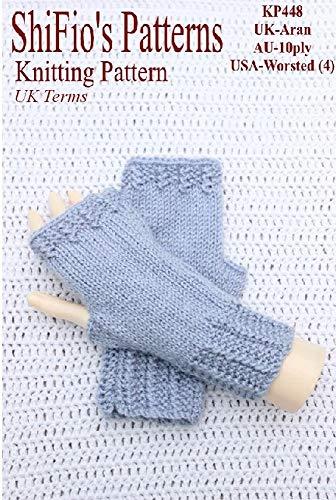 Knitting Pattern - KP448 - ladies fingerless gloves- UK Terminology