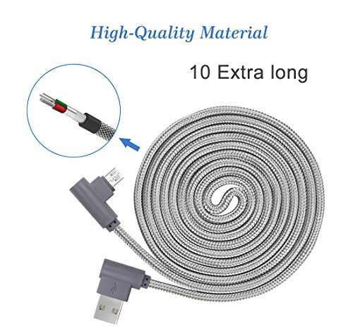 ee72086e892f90 Right Angle Micro USB Cable 10ft 3 Pack,90 Degree Android Charger Cable ,ANSEIP