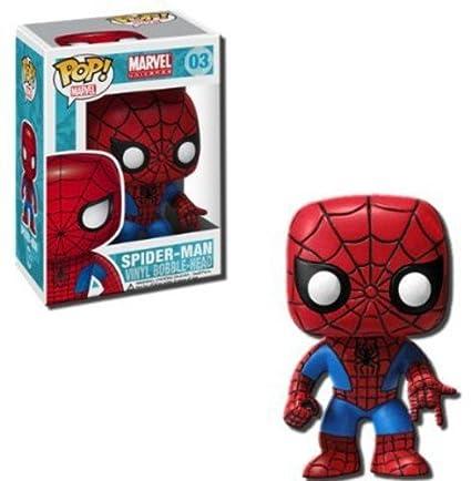 d437de96aa7 Marvel 4 Inch Vinyl Bobble Head Figure - Spider Man  Funko Pop! Marvel    Toys   Games