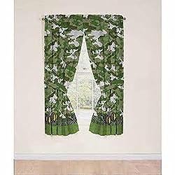 John Deere Green Tractor Window Panels / Curtains / Drapes - Set of 2 (42 x 63)