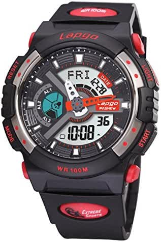 Boys fashion/Waterproof/Luminous/Outdoor sports/Multifunctional electronic watches-D