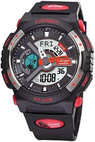 Boys fashion/Waterproof/Luminous/Outdoor sports/Multifunctional electronic watches-D