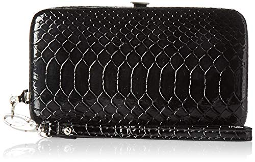 Metropolitan Novara Grab-n-Go Carry All Wristlet, Black Crocodile, One ()