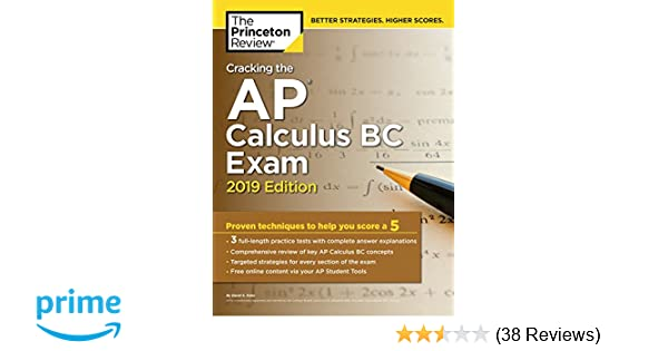Amazon com: Cracking the AP Calculus BC Exam, 2019 Edition: Practice
