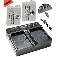 2-Pack Of LP-E8 LPE8 Batteries And Dual Battery Charger Kit For Canon EOS Rebel T2i, T3i, T4i, T5i, EOS 550D, EOS 600D, EOS 650D, EOS 700D DSLR Digital Camera