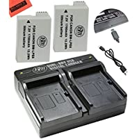 2-Pack Of LP-E8 LPE8 Batteries And Dual Battery Charger Kit For Canon EOS Rebel T2i, T3i, T4i, T5i, EOS 550D, EOS 600D, EOS 650D, EOS 700D DSLR Digital Camera