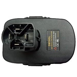 DM18GL Battery Adapter for Dewalt 18V Tool and For Milwaukee 18V Adapter For Craftsman 19.2 Volt Battery