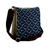 Lunarable Dark Blue Messenger Bag, Polygonal Ocean Swim, Unisex Cross-body