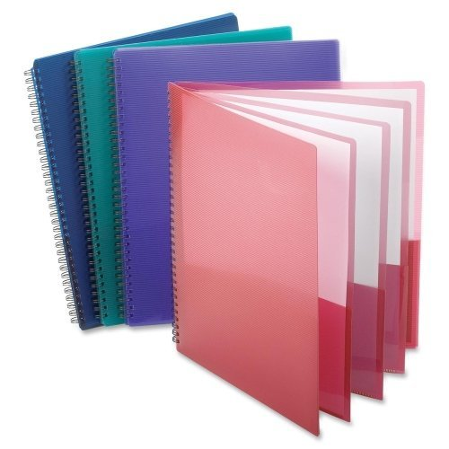 Wholesale CASE of 25 - Esselte Wire Binding 8-Pocket Folders-8-Pocket Folder,Wire Bind,Letter,200 Sh Capacity,Assorted