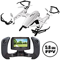 """UDI U835 FPV Quadcopter Drone   Altitude Hold, HD Camera and 4"""" 5.8Ghz LCD Display Screen   BONUS Battery Doubles Flight Time"""
