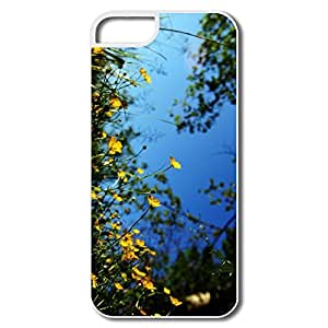 IPhone 5/5S Covers, Yellow Small Flowers White Cases For IPhone 5/5S