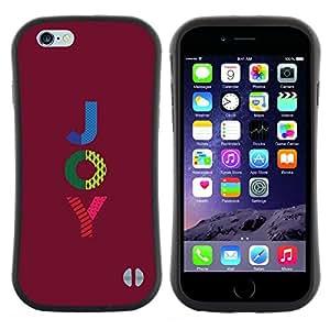 Hypernova Slim Fit Dual Barniz Protector Caso Case Funda Para Apple (5.5 inches!!!) iPhone 6 Plus / 6S Plus ( 5.5 ) [ Violet motivation Text]