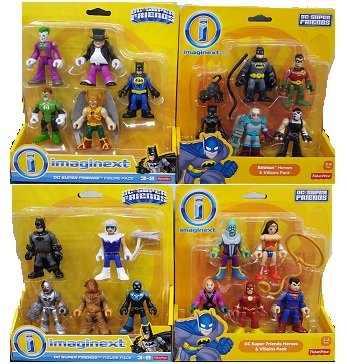 Fisher-Price Imaginext Dc Super Friends, Heroes & Villains Super Bundle Pack-4PACK GIFTSET
