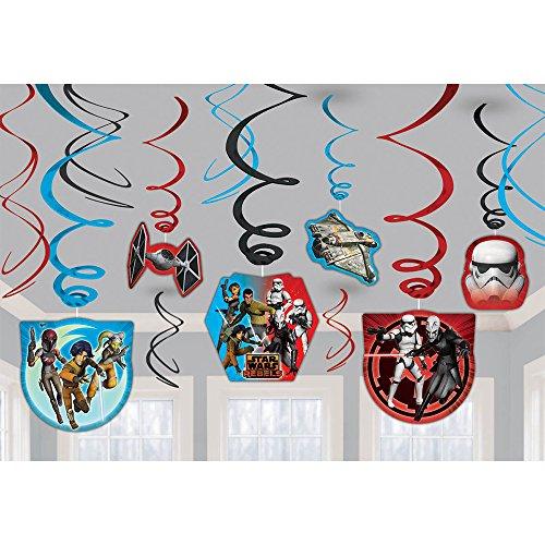 Star Wars Rebels Foil Swirl Hanging Decorations (Each) - Party Supplies (Star Wars Party Decorations)