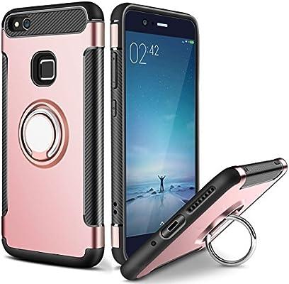 Amazon.com: MaiJin Anillo titular caso para Huawei P10 Lite ...