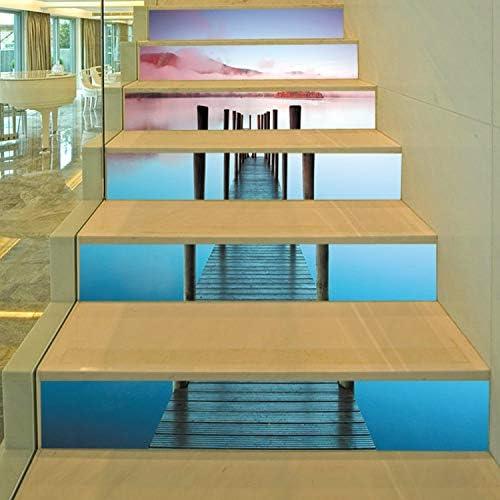 Pegatina decorativa para escalera, diseño de puente de madera, para escaleras, extraíble, impermeable, 100 x 18 cm, 13 unidades: Amazon.es: Bricolaje y herramientas