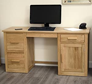 Arden Solid Oak Furniture Large Office Computer Desk Kitchen Home
