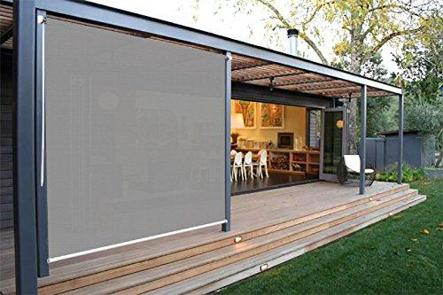 Ecover Exterior Roller Shade Outdoor Sun Screens Shade 8x6ft, Grey