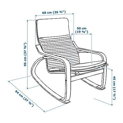 Amazon.com: IKEA poang mecedora Medium Brown con cojín ...