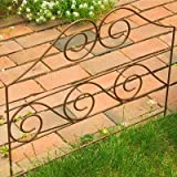 Panacea Triple Wave Border Fence, Earth, 24''H, Pack of 12