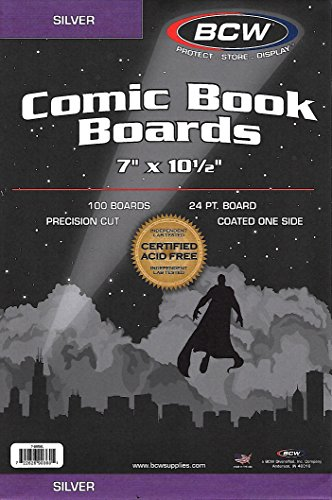 800 Silver Age Comic Bags and Backing Boards by BCW