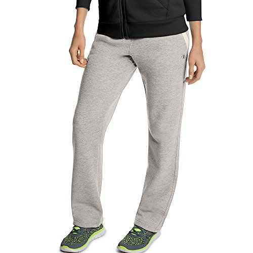 Price comparison product image Champion Women's Fleece Open Bottom Pant,  Oxford Heather / Oatmeal Heather,  Large