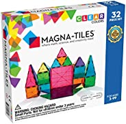 Magna-Tiles 32-Piece Clear Colors Set, The Original Magnetic Building Tiles For Creative Open-Ended Play, Educ