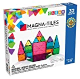 Magna-Tiles 32-Piece Clear Colors Set, The Original
