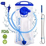 Hydration Bladder 2 Liter Water Reservoir 2L Leak Proof Water Bladder Bag, Replacement Reservoir Fits Most Hydration Packs Outdoor Hiking Cycling Climbing Running, Dual Opening, BPA Free