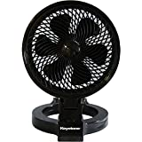 Keystone KSTFD070CAG Convertible Fan, 7-Inch, Black