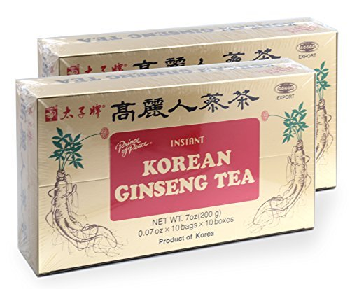 - Prince of Peace Korean Ginseng Tea(instant) 0.07 Oz X 10 Bags X 10 Boxes (2)