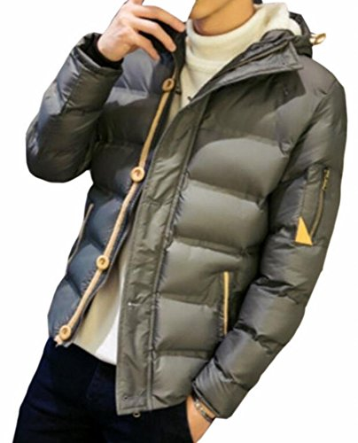 1 UK Zip Brd Hot Hoode Winter Men's Coat Thicken Full Solid Warm Jacket O4Uw7gqwx
