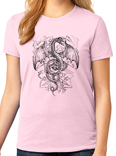 Women's Game Of Thrones Dragon Graphic Tee, 4X, Pale Pink (Dragon Girl Game Of Thrones)