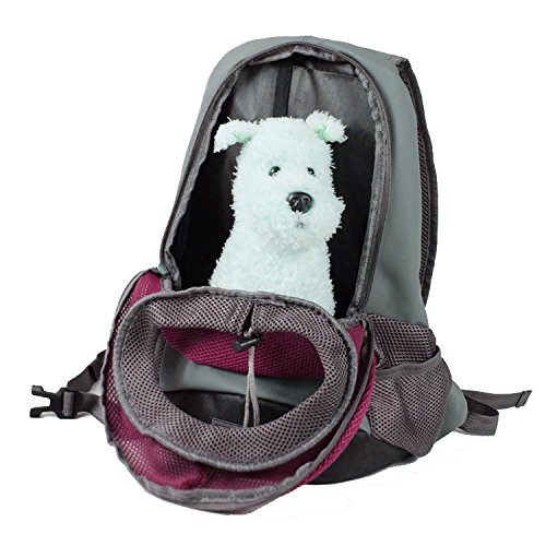Quno Pet Carrier Backpack Adjustable Soft-sided Portable Easy-Fit Outdoor Travel Hiking for Dog Cat Small Animals Handbag Pack of 1 Rose S by Quno (Image #2)