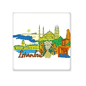 Turkey Istanbul Top Carboplatin Palace Blue Mosque Watercolor Ceramic Bisque Tiles for Decorating Bathroom Decor Kitchen Ceramic Tiles Wall Tiles 70%OFF