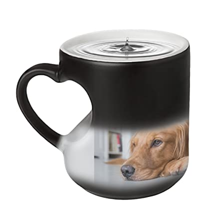 bccf4f63360 Customized Color Changing Mug Gift--Heat Changing Coffee Cup with  Personalized Photo Cup & Spoon Set