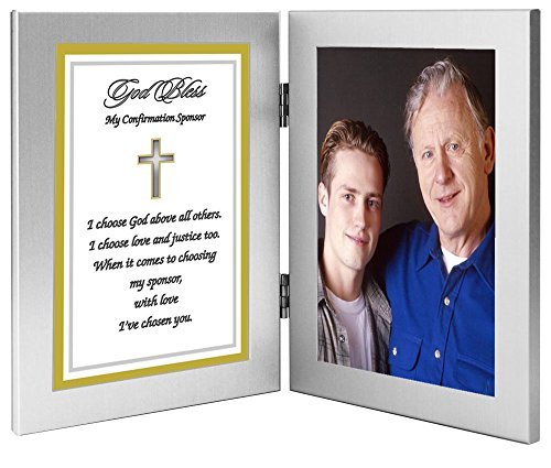 Poetry Gifts Sponsor Confirmation Gift - Thank You Poem in Two Attached Frames - Add Photo