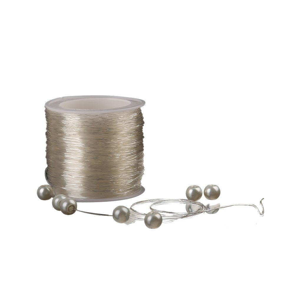 Shintop Elastic Beading Threads - 328 Feet Jewelry Making String for DIY Jewelry Making and Crafts (0.8mm, Clear) TLZBX01