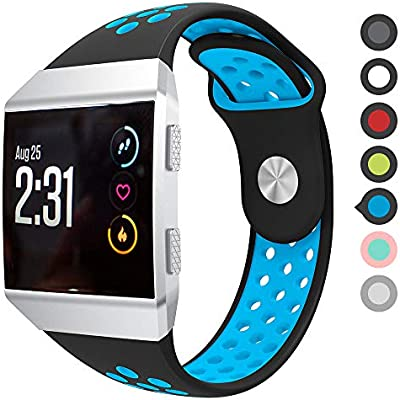 Meifox Fitbit Ionic Bands, Soft Silicone Replacement Strap Accessory Breathable Wristbands for Fitbit Ionic Smart Watch