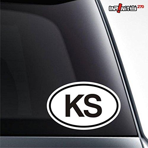 kyrgyzstan oval car sticker country of origin code europe jdm euro standard decal racing drift vinyl window