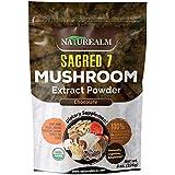 Sacred 7 Organic Mushroom Extract Powder - Reishi, Maitake, Cordyceps, Shiitake, Lion's Mane, Turkey Tail, Chaga + Organic Cocoa Powder - 226g - Supplement - Add to Coffee/Shakes/Smoothies