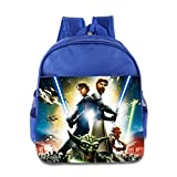 Kids Star Wars Clone Wars School Backpack Cartoon Children School Bags RoyalBlue